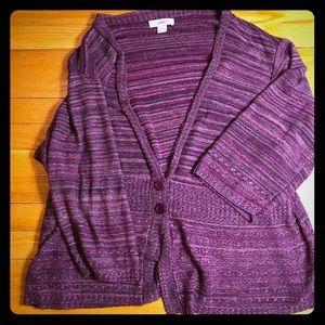 CJ Banks Cardigan Sweater